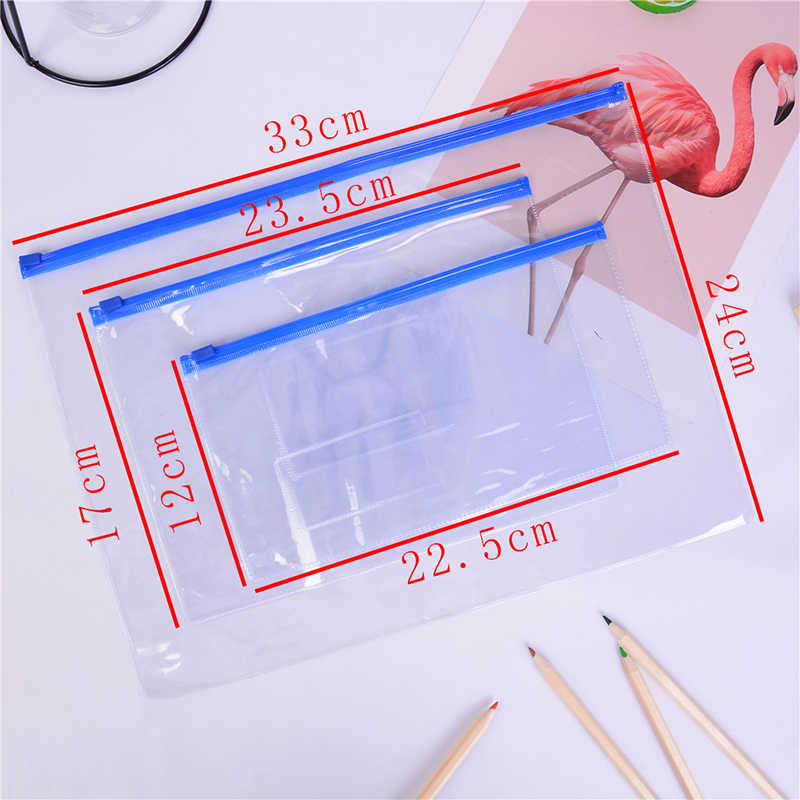1 Pcs A6/A5/A4 Papier Bestandsmap Boek Potlood Pen Case Bag Pouch Plastic Clear Draagbare