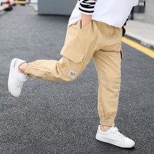 Teenage  Boy Child Casual Pants Spring Autumn Zipper Bib Overall Trousers 2019 Children 4-13Y Clothing Fashion Teens