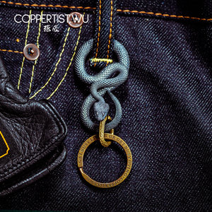 Image 4 - CPTS.WU S925 ثعبان سلاسل المفاتيح التصميم الأصلي اليدوية مفتاح سلسلة موضة الحيوان حلقة رئيسية حقيبة يد قلادة الشرير الصخرة