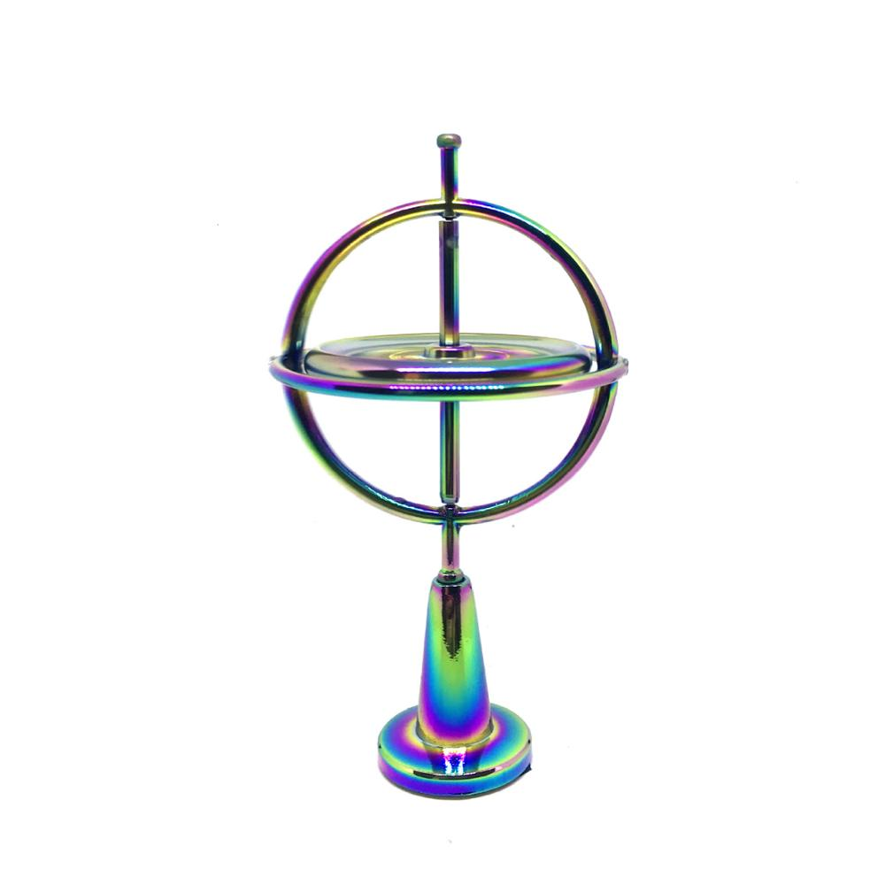 Scientific Educational Creative Metal Finger Gyroscope Gyro Top Pressure Relieve Classic Toy Traditional Learning Toy For Kids
