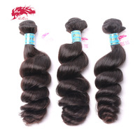 Loose Wave 3 Pcs Lot Virgin Peruvian Human Hair Weave Natural Color Ali Queen Hair Products One Cut Unprocessed Hair Extensions