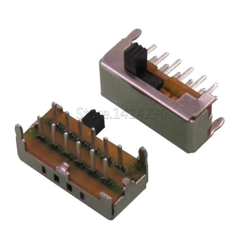 20Pcs Toggle Switch SK24D02G4 SK24D02VG4 12Pin 2P4T Slide Switch Handle High 4MM SK-24D02