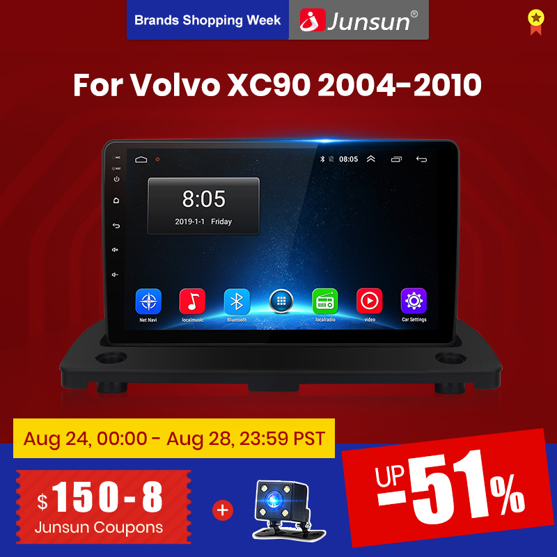 Junsun V1 2G+128G Android 9.0 DSP For Volvo XC90 2004 2014 Car Radio Multimedia Video Player Navigation GPS 2 din dvd no cd slot|Car Multimedia Player|   - AliExpress