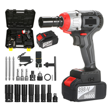 Wrench-Kit Quick-Chuck Torque Brushless-Drill Cordless Fast-Charger Multifunction Ac
