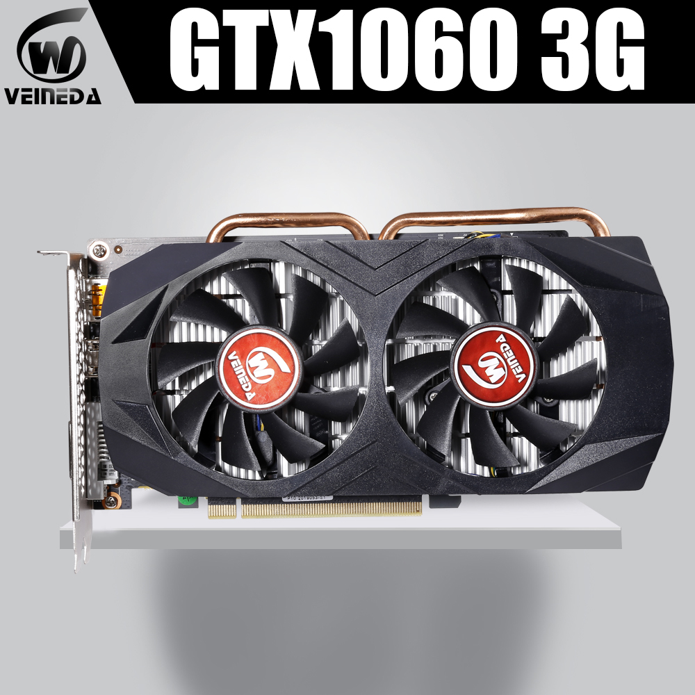 VEINEDA Graphics Card <font><b>GTX</b></font> 1060 3GB 192Bit GDDR5 GPU Video Card PCI-E 3.0 For <font><b>nVIDIA</b></font> Gefore Series Games Stronger than <font><b>GTX</b></font> <font><b>1050Ti</b></font> image