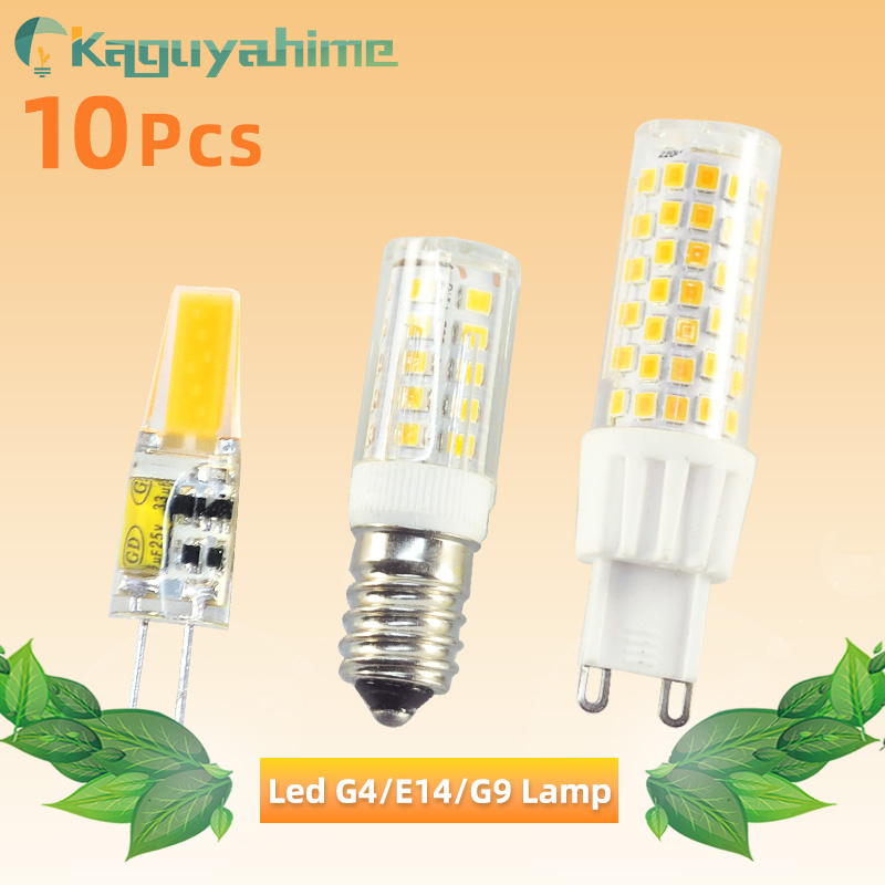 10pcs Dimmable COB G4 Bulb G9 LED 6W 10W AC 220V ACDC 12V LED Lamp Crystal LED Light Lampara Ampoule LED G9 Bulb G4 Zarovka