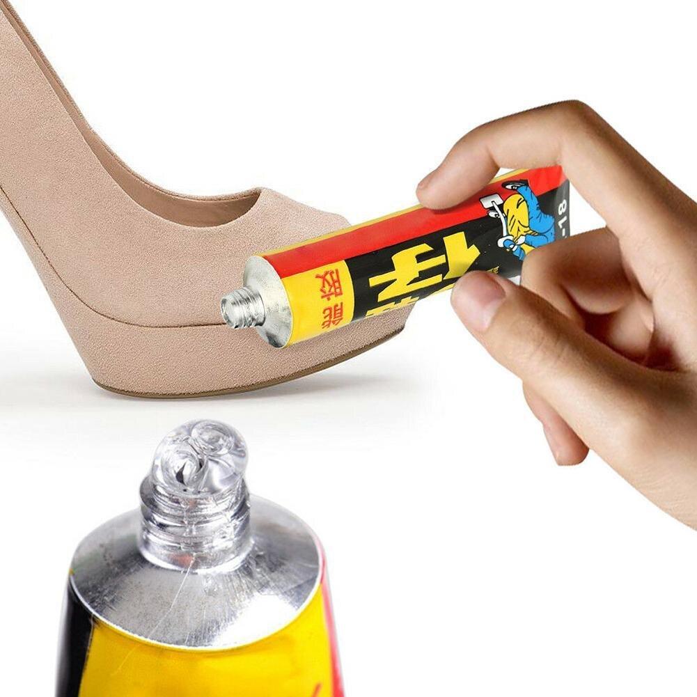 18ml Super-Adesivo di Riparazione Colla Per Scarpe di Cuoio scarpe di Tela di Gomma Tubo Forte Legame Scarpe di Riparazione Colla