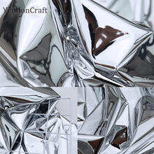 Зеркальная Водонепроницаемая Серебристая ткань Chzimade 50x137 см, креативная Двусторонняя Серебристая зеркальная ткань из ТПУ