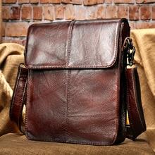 WESTAL men's bags genuine leather shouler bag for men messenger bag men's crossbody handbag men's shoulder bag flap zipper bags