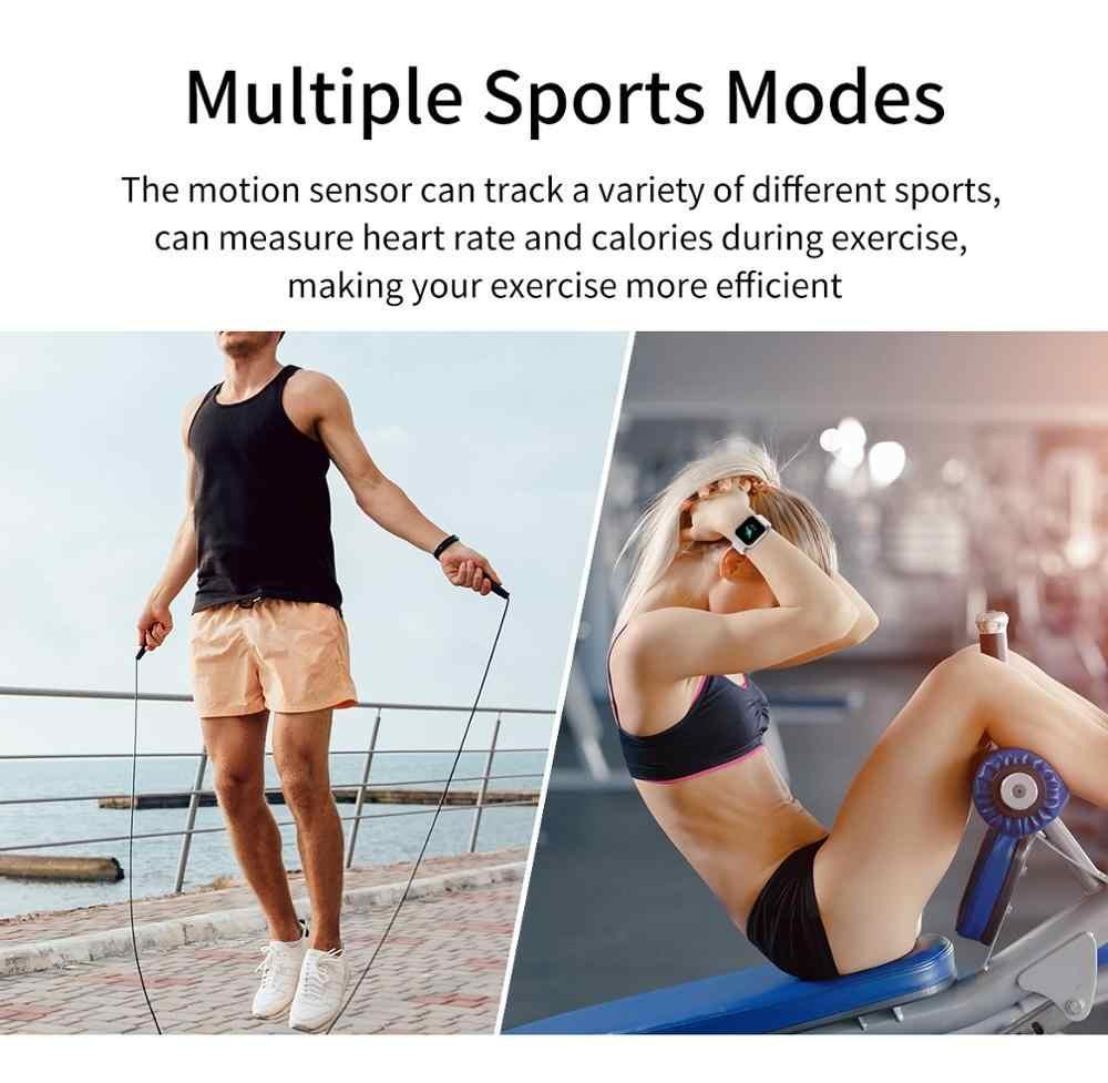 LEMDIOE Smartwatch Fitness Tracker fréquence cardiaque surveillance du sommeil montre intelligente hommes pour android IOS