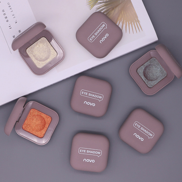 Novo Shimmer Glitter Eye Shadow Palette Polarize Shine Makeup Single Eyeshadow Sparkling Duochrome Pigment Powder Cosmetics 4