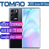 ZTE-teléfono inteligente Axon 30 Ultra 5G, Original, oficial, Snapdragon 888, 8GB, 12GB, 16GB de RAM, 256GB, 1TB de ROM, 144Hz, 64MP, 4600mAh, 66W, NFC