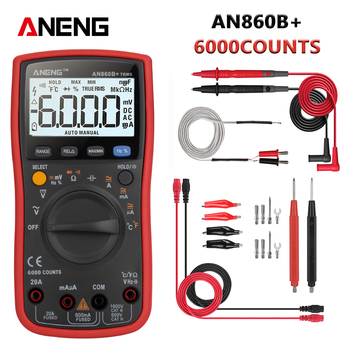 ANENG AN860B+ 6000 counts digital multimeter esrmeter testers automotive electrical dmm transistor tester peak resistor meter aneng m11 digital multimeter 6000 counts profissional transistor tester multimetro multitester analogico lcr meter rm101 zt102