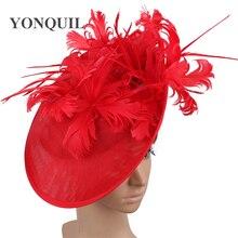 Festa chique do vintage fascinators chapéu elegante das senhoras do vintage headpiece pinos de cabelo para a ocasião formal igreja chique fedora bonés