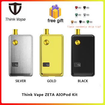 Free gift Think Vape ZETA AIO 60W Pod Kit powered by 18650 battery box mod & 3ml tank E Cigarette for DTL / MTL vape AIO Pod Kit цена 2017