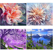 DIY 5D Diamond Painting Flower Diamond Embroidery Landscape Full Round Drill Mosaic Rhinestones Cross Stitch Art Home Decor Gift diapai 100% full square round drill 5d diy diamond painting flower landscape diamond embroidery cross stitch 3d decor a21095
