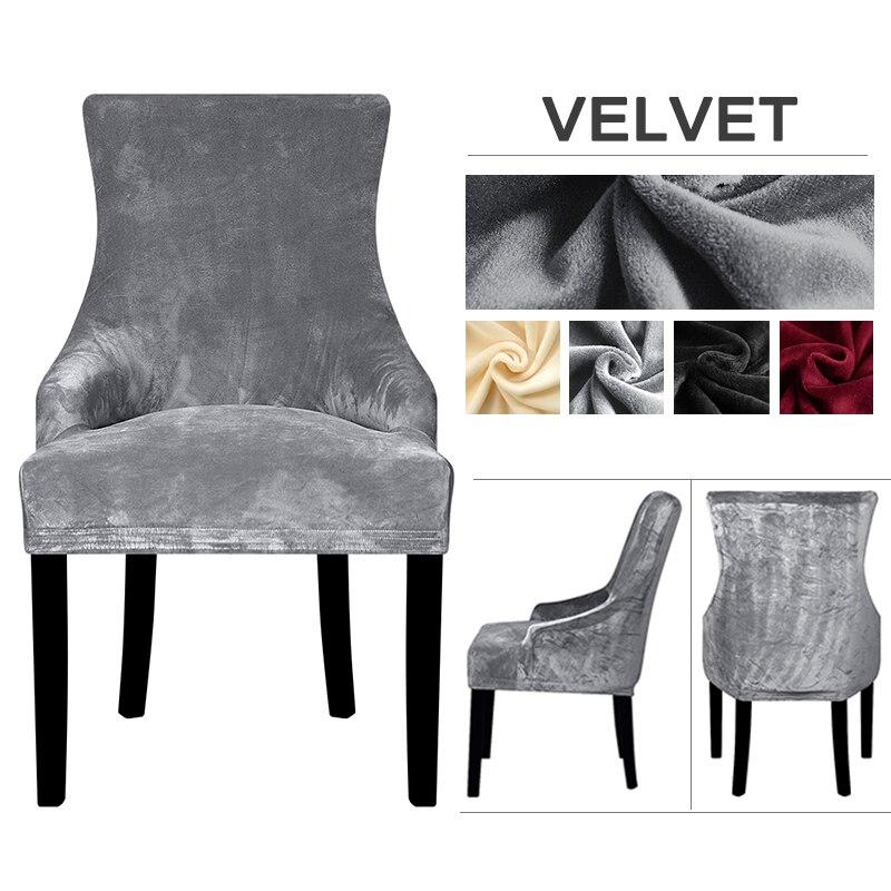 Tecido de veludo estilo europeu cadeira capa inclinada braço tamanho grande asa volta rei volta cadeira tampas assento lavável removível