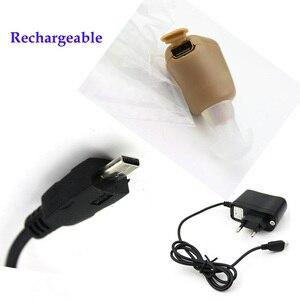 Image 5 - Mini prothèses auditives invisibles rechargeables et pratiques, transparent, pour personnes âgées, contre la surdité