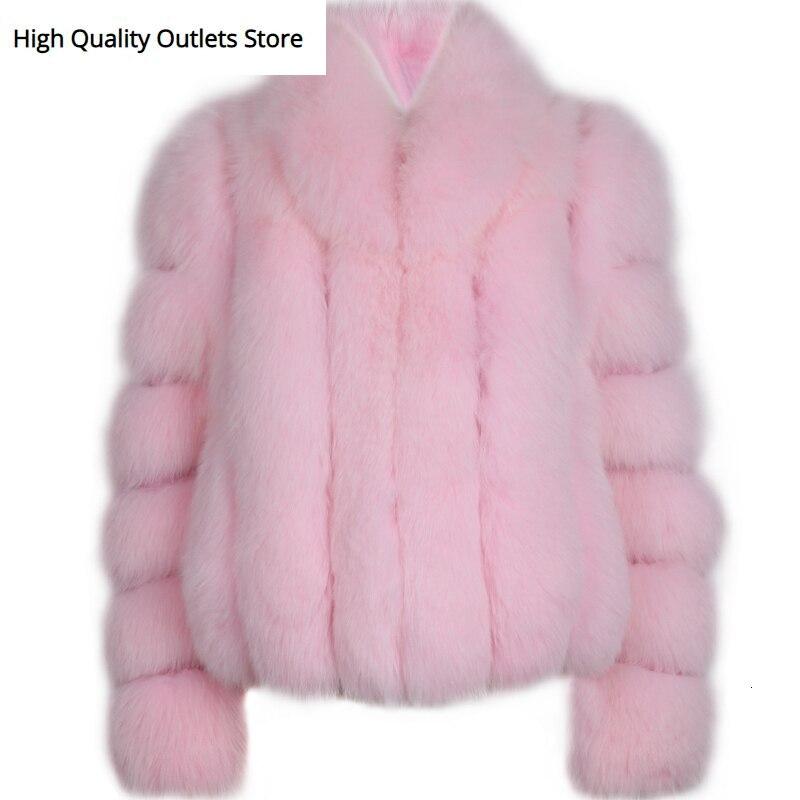 Fur Natural Jacket Ladies Real Fox Fur Jacket Women Genuine Fur Jacket