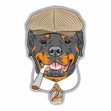 Модный Ротвейлер собака голова животное автомобиль стикер Автомобили