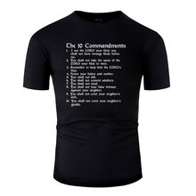 Customized Outfit 10 Commandments White Mens Tshirt 2020 Round Collar T-Shirt Man Female Oversize S-5xl Pop Top Tee(China)