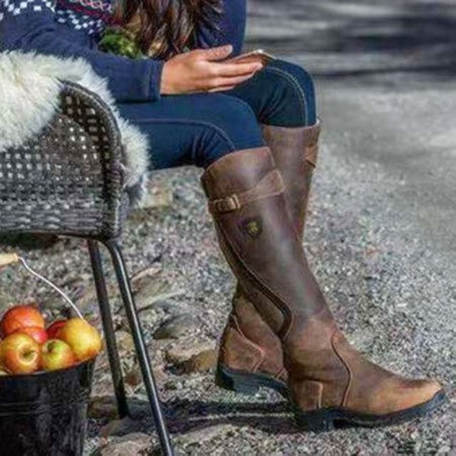 Women's Leather Horse Riding Boots 4