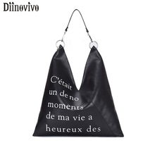 DIINOVIVO Letter Designer Shoulder Bags Women Bag Casual Women PU Leather Crossbody Bag Ladies Hand Bags Large Tote Bag WHDV1220 все цены