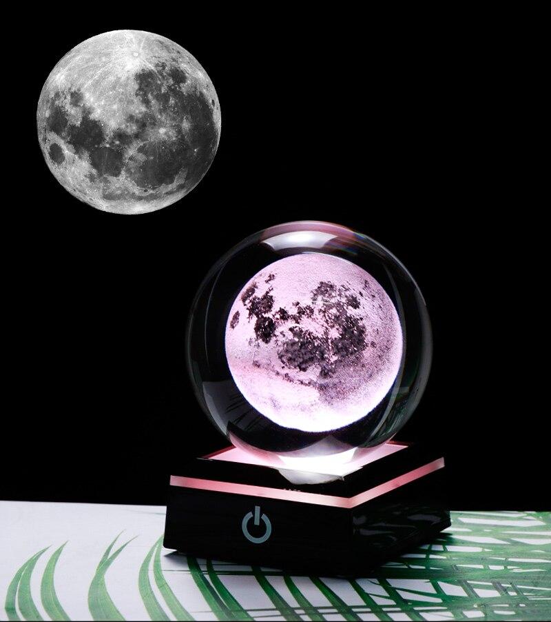 la boule de cristal avec lune 3D