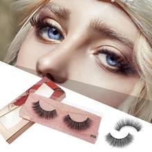 1 Pair 3D Mink Eyelashes Fluffy Dramatic Makeup Wispy Lashes Natural Long False Thick Fake