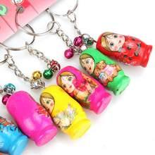 Gran Oferta De 12 unids/set muñecas rusas anillo Babushka Matryoshka figuras niños juguetes De los niños Regalo De Cumpleaños llaveros