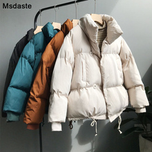 Winter Jacket Coat Women 2019 Fashion Warm Thick Solid Short Style Cotton Padded Plus Parkas Coat Casaco Feminino Outwear Coat цены онлайн