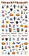 цена на Nail Sticker Halloween Cartoon Manicure Stickers 3D Applique Flowers Nail Art Water Transfer Stickers Decal