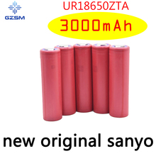 GZSM 18650 battery for Sanyo UR18650ZTA rechargeable 3000mAh 3.7V 6A For replacement