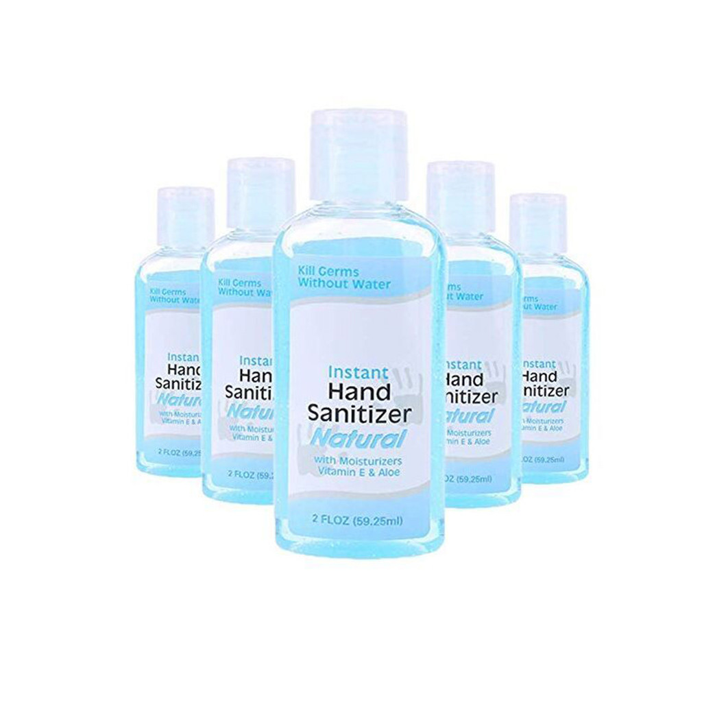 5PCS Portable Disposable Hand Sanitizer Bottle Quick-Dry Lasting Disinfection Travel Daily Hand Sanitizer Soothing Gel Bottle