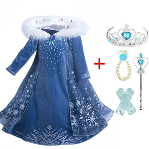 Girls Winter Dress New Queen Halloween Costume For Kids Cosplay Dresses Princess disfraz carnaval vestido de festa infantil