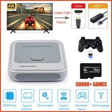 HD видео Игровая приставка для Оборудование для PSP/PS1/N64/DC/PS4 встроенный 50000 + игры ретро ТВ игровая консоль с открытым исходным кодом Системы HDMI...