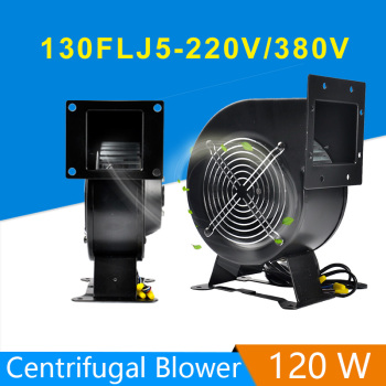 130FLJ5 Power frequency Centrifugal Fan 220V/380V 120W Blower Fan AC-CENTRIFUGAL Fan Centrifugal blower