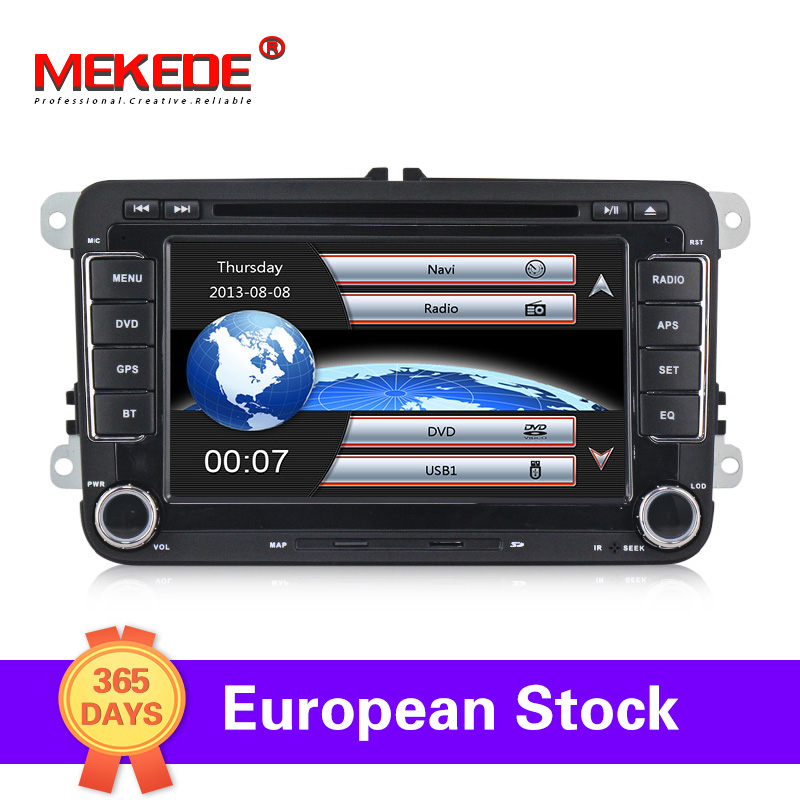 Germany Warehouse!rns510 2 DIN Car DVD Player For VW Passat POLO GOLF Tiguan CC Skoda Fabia Rapid Yet Seat Leon+16g Map