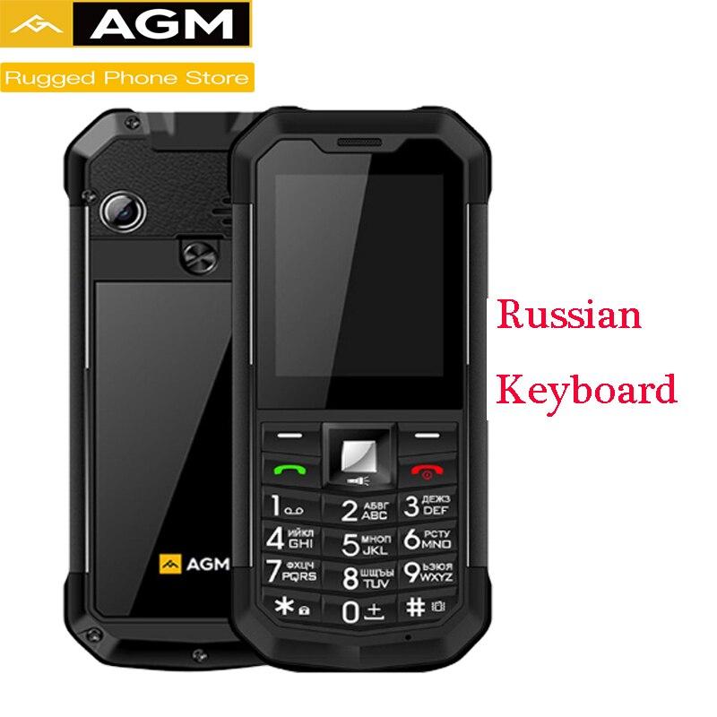 AGM M3 Russian Rugged Dual SIM Outdoor 2.4'' Phone IP68 Waterproof Shockproof Dustproof Torch 1970mAh Flashlight