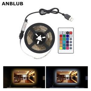 1M 2M 3M 4M 5M USB LED Strip Light SMD2835 DC 5V Flexible Lamp Tape Ribbon RGB Warm/Cold White 60LEDs/m TV Background Lighting