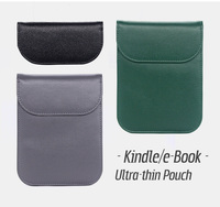 4 2 Hand-craft PU Leather pouch bag case cover for Kinlde Paperwhite 1 2 3 4 Voyage 10th E-book 6 inch Universal (2)