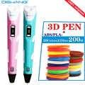 Stylo d'impression 3d Original stylo graffiti intelligent stylo de dessin en trois dimensions stylo 3d cadeau créatif pour l'anniversaire des enfants