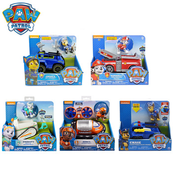 Paw Patrol Rescue Dog Puppy Set Toy Car Patrulla Canina Toys Action Figure Model Marshall Chase Rubble Vehicle Car Children Gift