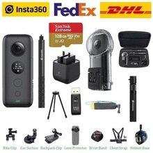 Insta360 ONE X 액션 카메라 VR 360 파노라마 카메라 (IPhone 및 Android 용) 5.7K 비디오 (벤처 케이스 배터리 포함)