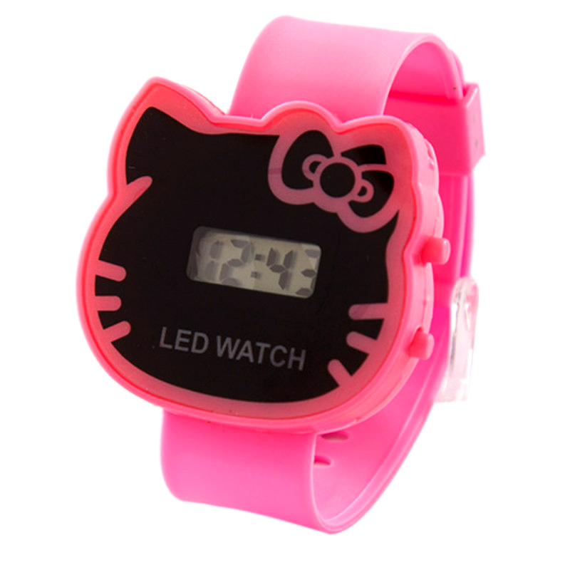 The New  Multi-function  Children Watch  The Cat  Students Table  Cute Led Electronic Watch  Cartoon Kids Watches