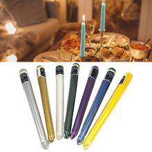 12 Pcs Bars Candle Dripless Taper Candle Long Stick Scented Candle Smokeless Candle for Party Birthday Christmas Candle trinity candle factory white christmas pillar candle 4x9