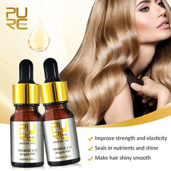 Marokański czysty olej arganowy do pielęgnacji włosów 2 szt 10ml olejek do włosów do wszystkich typów włosów leczenie skóry głowy tanie i dobre opinie PURC 10 ml Argan oil Leczenie włosów i skóry głowy