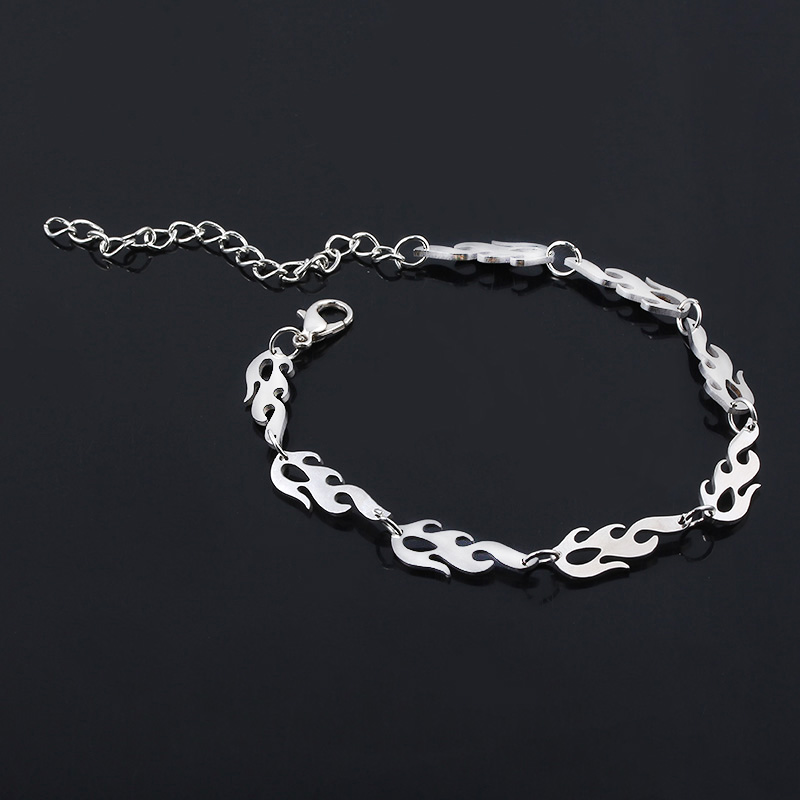 Stainless steel Hip hop Flame Choker Clavicle Street wear Necklace men women chain Pendant party Jewelry Halloween Gifts in Pendant Necklaces from Jewelry Accessories
