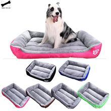 Собачья кровать, товары для домашних животных, собачий питомник с принтом лап для маленьких, средних и больших собак, собачье гнездо, мягкая теплая кошачья кровать, водонепроницаемый домик для домашних животных