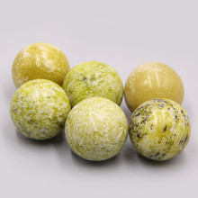 2 adet 20mm doğal sarı turquoises taş küre topu ev dekorasyon takı reiki kristal şifa mineral hediyeler toptan diy